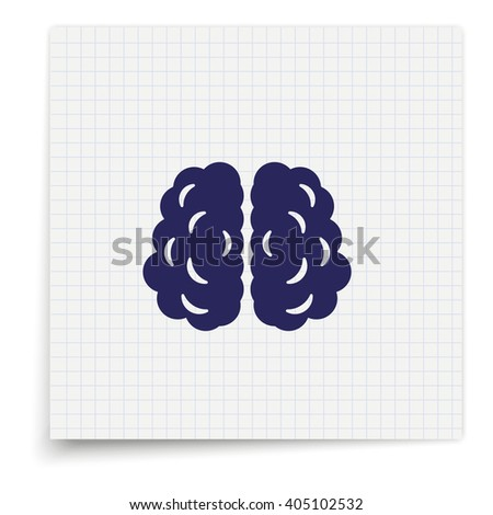 Brain icon. - stock photo
