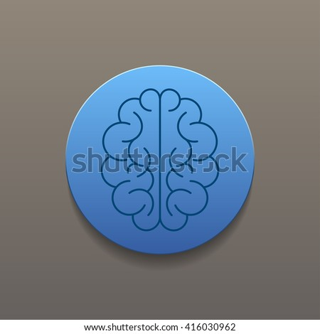 Brain icon. Flat style illustration.  - stock photo