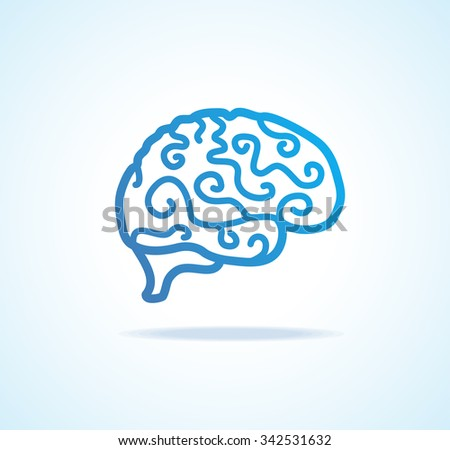 Brain Icon. The Concept Of Brainstorming. illustration - stock photo
