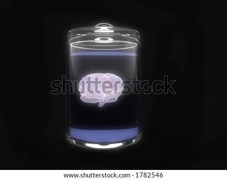 brain in glas - stock photo