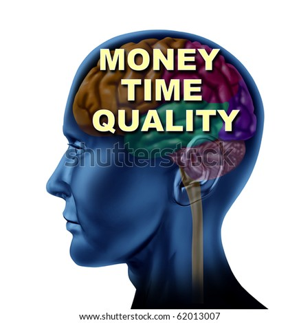 brain money time quality isolated mind currency control concept - stock photo