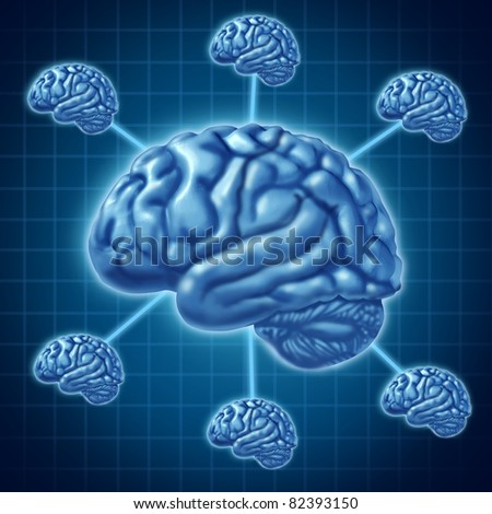 Brain network of intelligence - stock photo