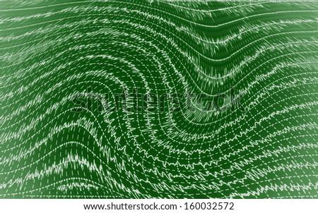 Brain wave on electroencephalogram - stock photo