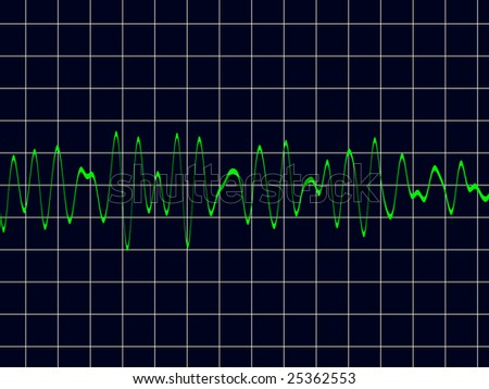 brain wave or sound wave - stock photo