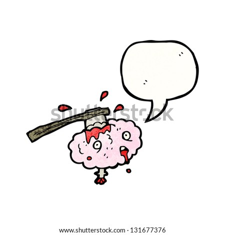 brain with speech bubble - stock photo
