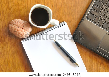 brainstorm and working instrument - stock photo