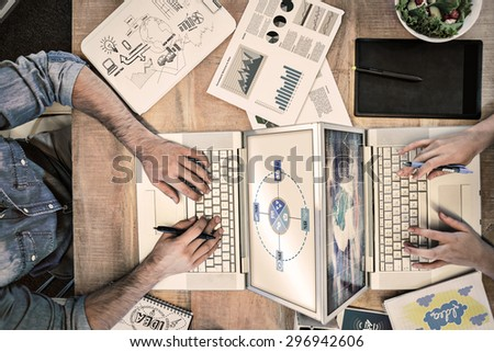 Brainstorm graphic against stocks and shares - stock photo