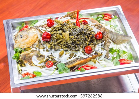 braised fish with pickle