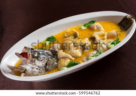 braised mandarin fish with millet