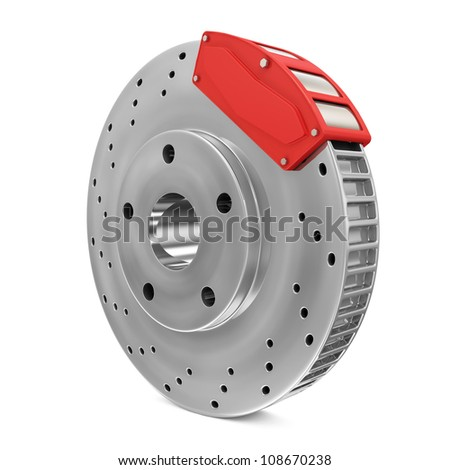 Brake Disc isolated on white background