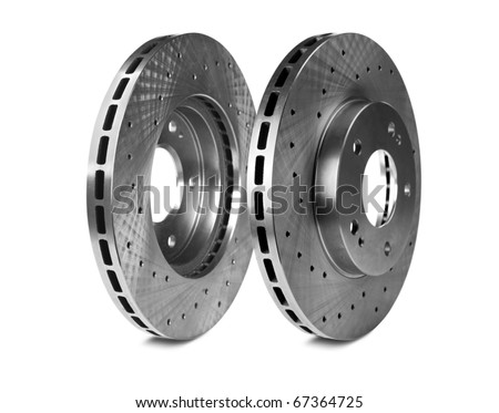 Brake disk for the sports car - stock photo