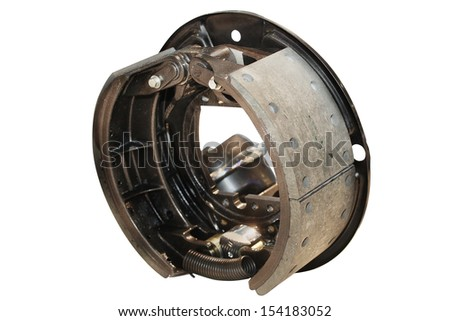 Brake gear isolated under the white background - stock photo