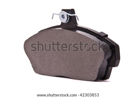 Brake pad on a white background