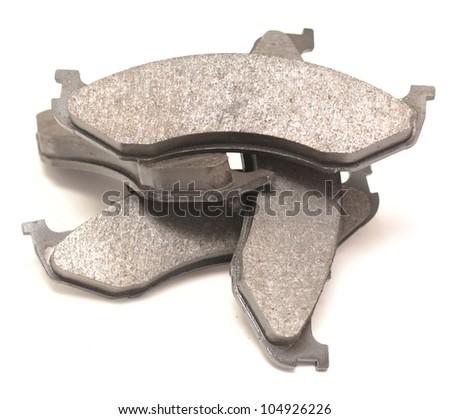 brake pads isolated on white - stock photo