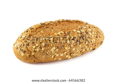 Bran bread isolated