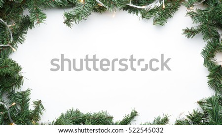 Branches of fir with garland