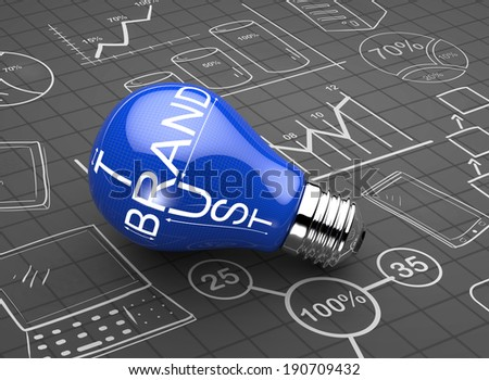 Brand and trust as a concept - stock photo
