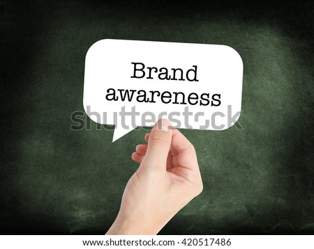 Brand awareness written on a speechbubble