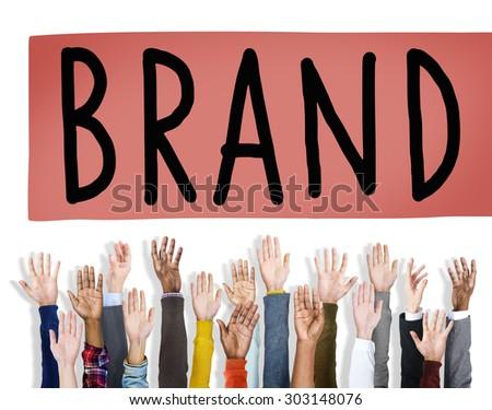 Brand Branding Copyright Trademark Marketing Concept - stock photo