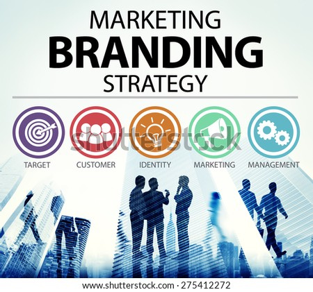 Brand Branding Marketing Commercial Name Concept - stock photo