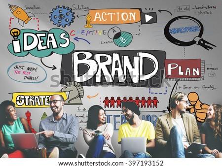 Brand Branding Strategy Marketing Creative Concept - stock photo