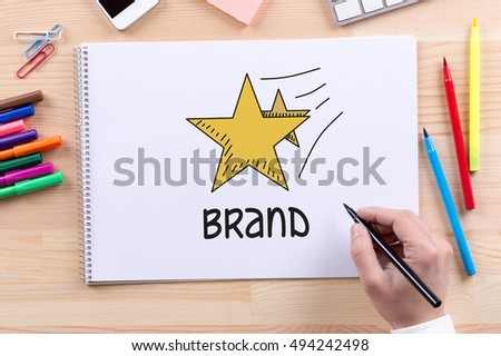 brand concept stock photo royalty free 494242498 shutterstock. Black Bedroom Furniture Sets. Home Design Ideas