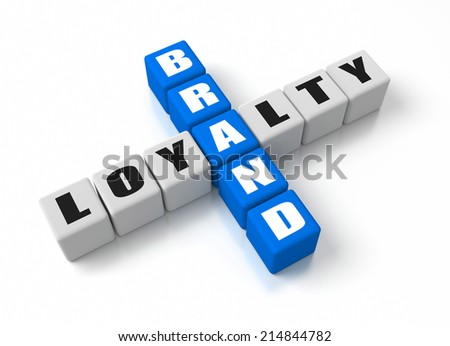 Brand Loyalty crosswords. Part of a business concepts series. - stock photo