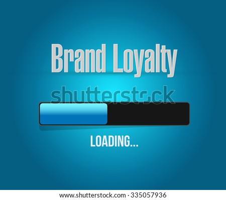 brand loyalty loading bar sign concept illustration design graphic - stock photo
