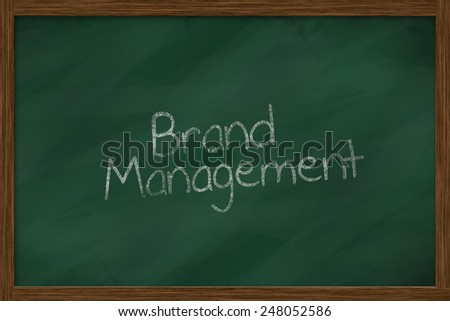 brand management words on green chalkboard