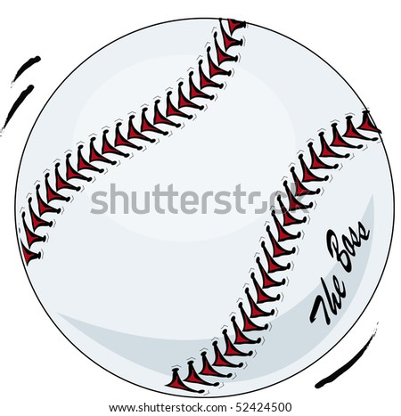 Brand new baseball illustration with movement and 'the boss' - stock photo