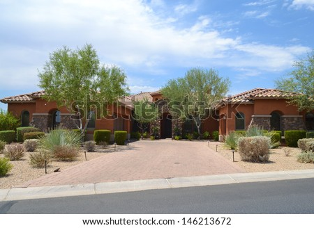 Brand New Luxury Home in Scottsdale, Arizona  - stock photo