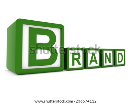 brand on boxes - stock photo