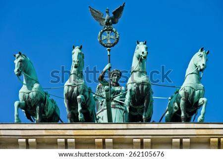 Brandenburg Gate, Berlin. - stock photo