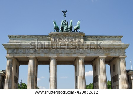 Brandenburg Gate, landmark of German reunification, Berlin, Germany