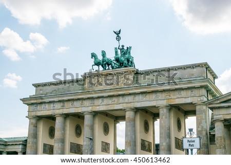 Brandenburg gate of Berlin, Germany - stock photo