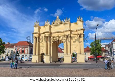 Brandenburg Gate of Potsdam city, Germany - stock photo