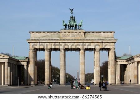 Brandenburger Tor - Brandenburg Gate - stock photo