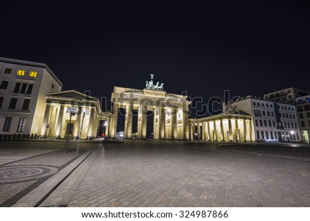 Brandenburger Tor in the evening, Berlin, Germany