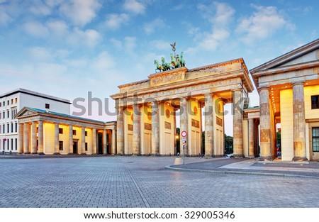 Branderburger Tor- Brandenburg Gate in Berlin, Germany - stock photo