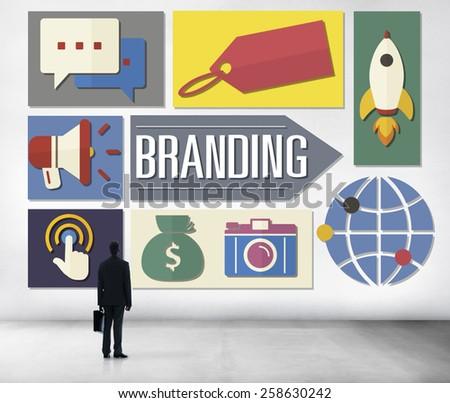 Branding Advertising Business Global Marketing Concept - stock photo