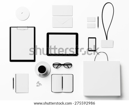 branding identity mock up for graphic designers - stock photo