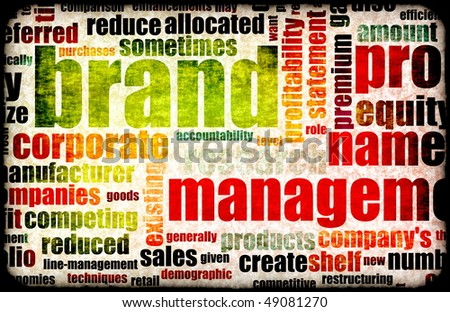 Branding of Market Product Word Cloud Background - stock photo