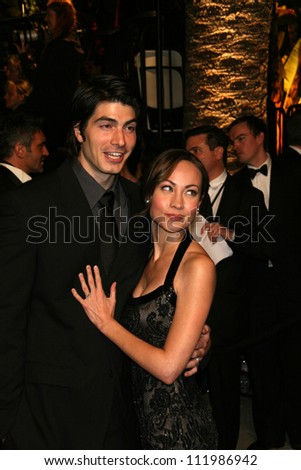 Brandon Routh and Courtney Ford at the 2007 Vanity Fair Oscar Party. Mortons, West Hollywood, CA. 02-25-07