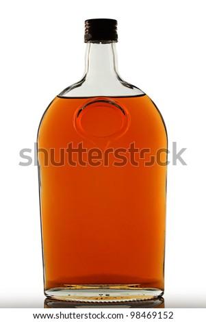 Brandy bottle - stock photo