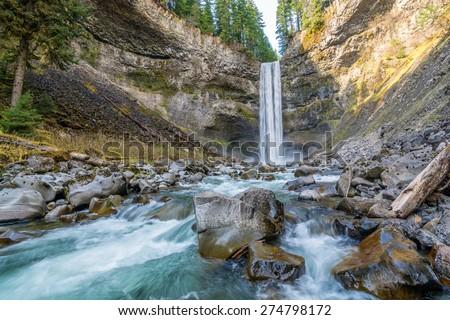 Brandywine waterfall in Brandywine Falls Provincial Park, British Columbia, Canada - stock photo