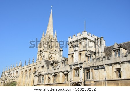 Brasenose College Oxford High Street UK - stock photo