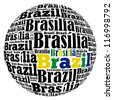 Brasilia capital city of Brazil info-text graphics and arrangement concept on white background (word cloud) - stock photo