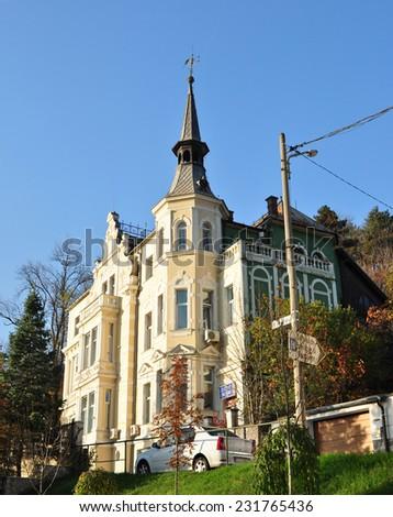 Brasov city romania psychiatry and neurology hospital architecture - stock photo