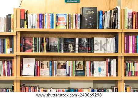 BRASOV ROMANIA DECEMBER 22 2014 Bookshelf Stock Photo Royalty Free