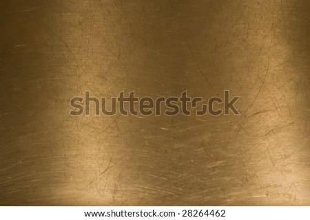 Brass background. - stock photo